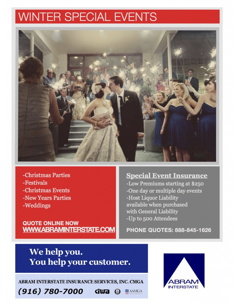 Event Insurance Quote Winter Wedding Insurance  Don't Forget It  Abram Interstate