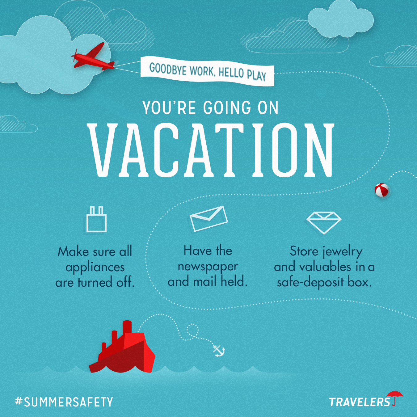 vacation checklist help your insurance customers avoid harm while