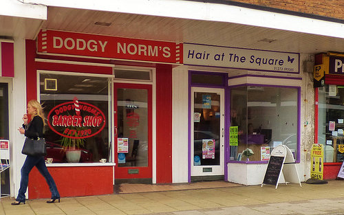 photo credit: Dodgy Norm's and Hair at the Square, Barbers via photopin (license)