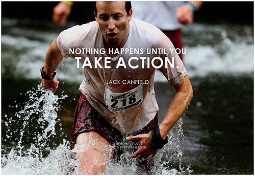 photo credit: Jack Canfield Nothing happens until you take action via photopin (license)